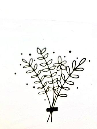 Carimbo Mini Flor Ramo