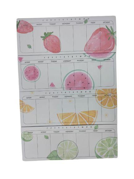 Mini Bloco Planner Semanal Frutas