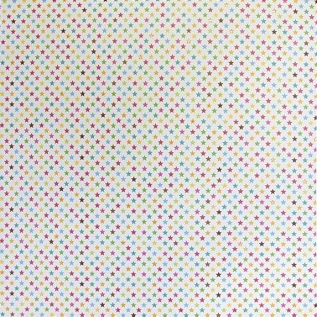 Folha de Scrapbook - Estrelas Coloridas