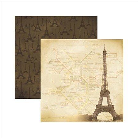 Folha de Scrapbook Viagens -  Paris