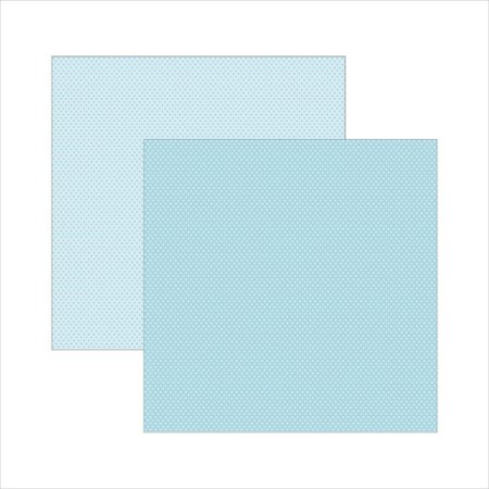 Folha de Scrapbook Poá Azul Bebê e Branco