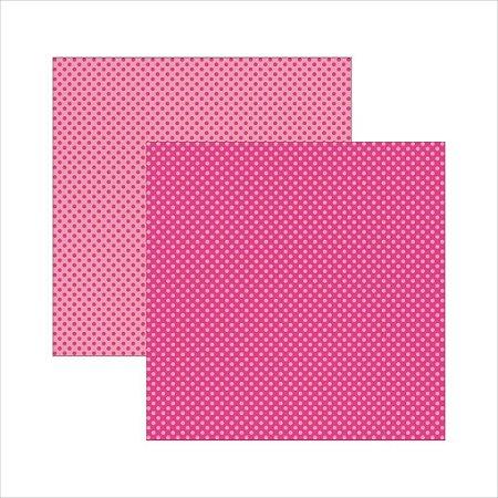 Folha de Scrapbook Poá Grande - Pink
