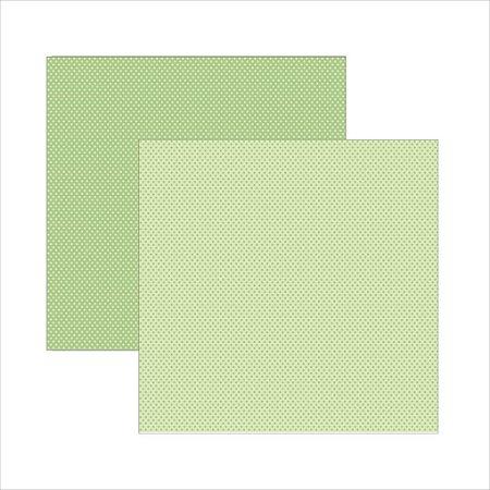 Folha de Scrapbook Poá - Verde Bebê