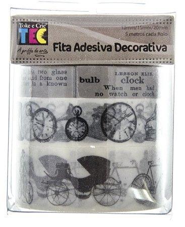 Conjunto Fita Adesiva Washi Tape Artigos Antigos