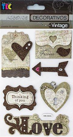 Adesivo Decorativo Vintage - Amor