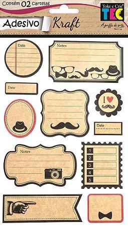 Adesivo Kraft - Mustache