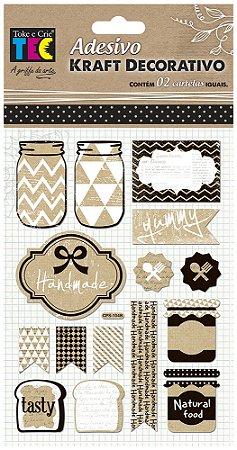 Adesivo Kraft Decorativo - Cozinha