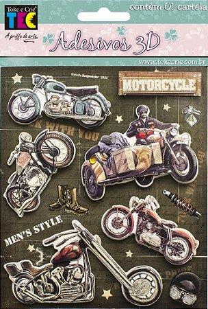 Adesivo 13 x 14 cm 3D - Motocicletas