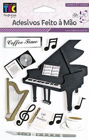 Adesivo Feito À Mão - Música