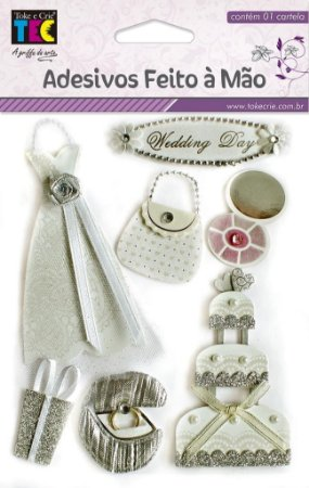 Adesivo Feito À Mão - Noiva