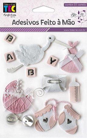 Adesivo Feito À Mão - Bebê Menina