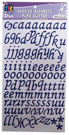 Adesivo Alfabeto Minúsculo Puro Glitter Roxo