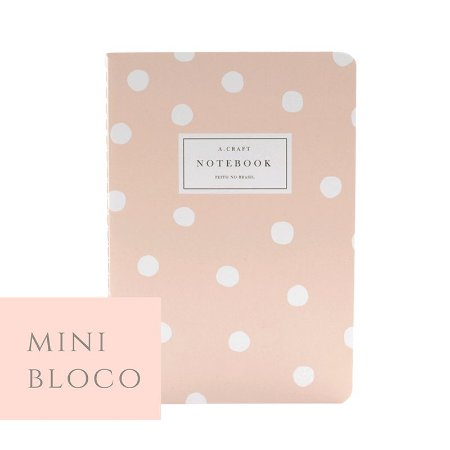 Mini Bloco para Planner Modular Champagne Rosé