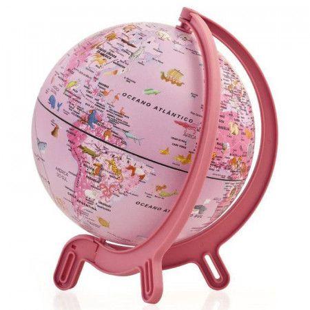 Globo Terrestre Rosa 16cm