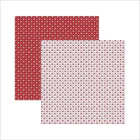 Folha de Scrapbook Estrela Vermelha