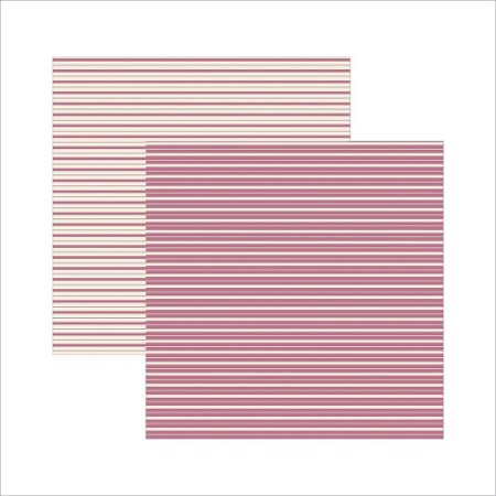 Folha de Scrapbook Pink Listras