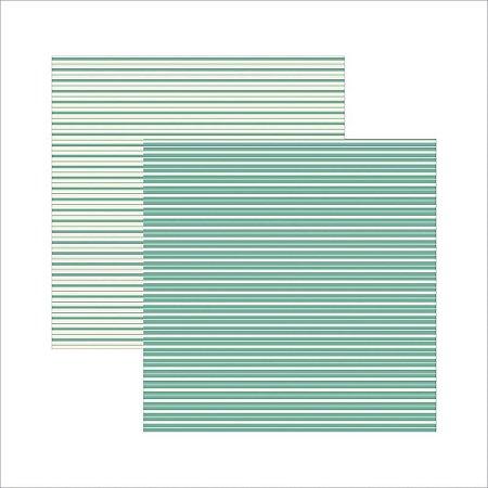 Folha de Scrapbook Verde Listras