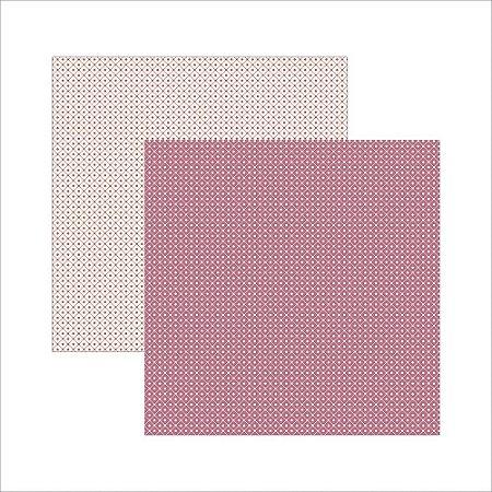 Folha de Scrapbook Pink Xadrez