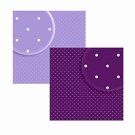 Folha de Scrapbook Bolinhas Violeta