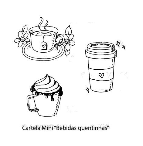 Mini Carimbo Bebidas Quentinhas