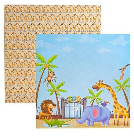 Folha de Scrapbook Zoológico Entrada