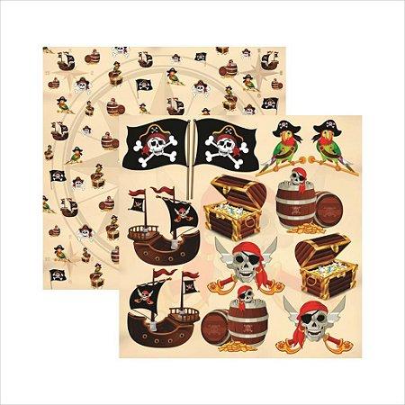 Folha de Scrapbook Piratas Recortes