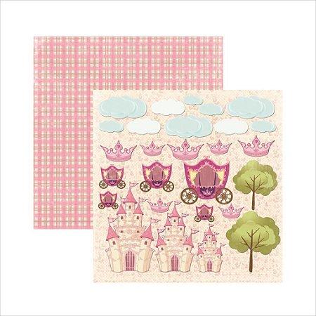 Folha de SCrapbook Princesa Encantada Recortes