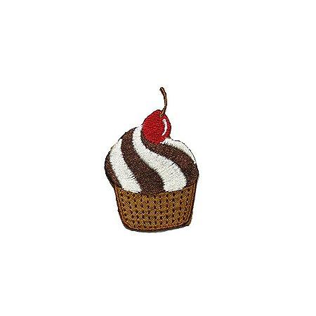 Patch Cupcake Cereja Vermelha Pequeno