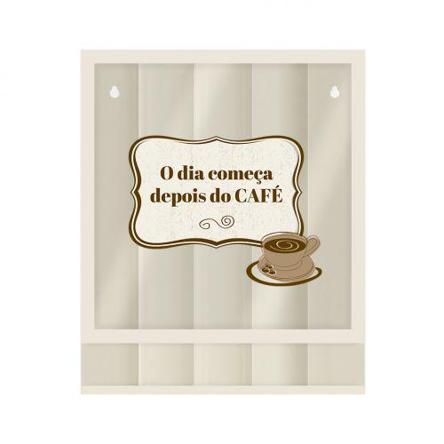 daa574337 Quadro Porta Cápsulas Café o Dia- Papel Picado - Papel Picado ...