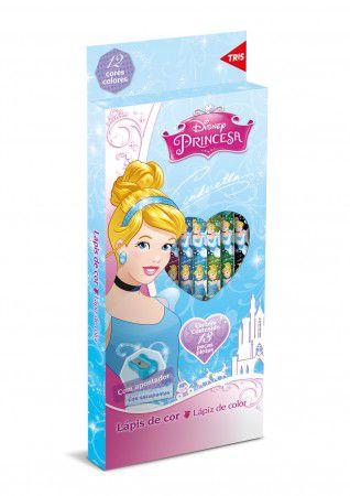 Lápis de Cor Princesas da Disney com Apontador