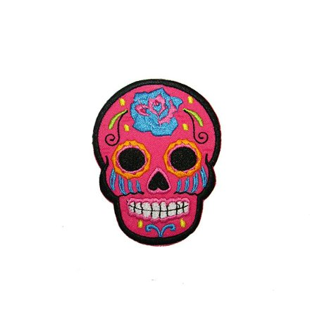 Patch Caveira Mexicana Rosa