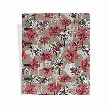Caderno Argolado Flores Rosa