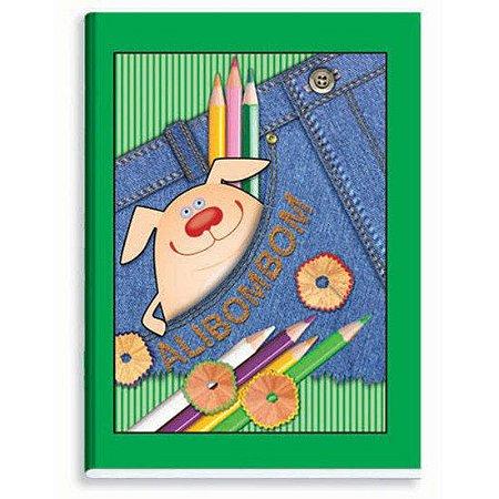 Caderno Alibombom Brochura Capa Flexível  Verde
