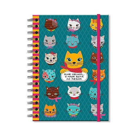 Caderno Midi Estampado Gatinhos