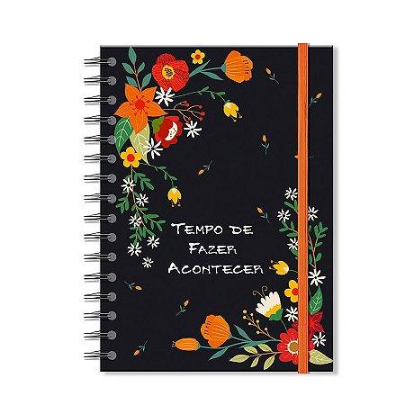 Caderno Midi Estampado Jardim