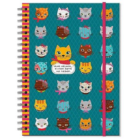 Caderno Estampado Gatinhos 100 folhas