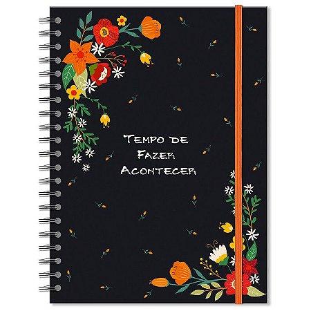 Caderno Estampado Jardim 200 folhas