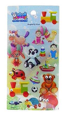 Adesivo Brinquedos Infantis com Olhos 3D