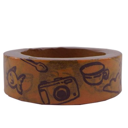 Fita Adesiva Washi Tape Figuras Animadas Laranja