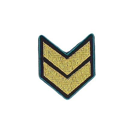 Patch Militar Preto e Dourado