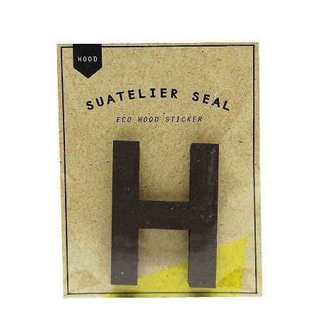 Adesivo Alfabeto Letra H