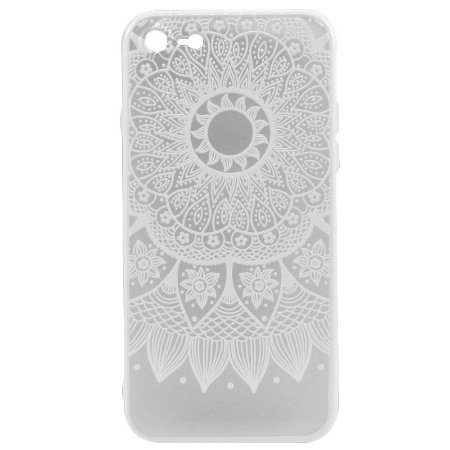 Capa Case Mandala Branca - iPhone 7