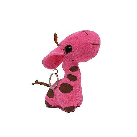 Chaveiro Girafa Rosa
