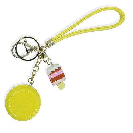 Chaveiro Macaron Amarelo