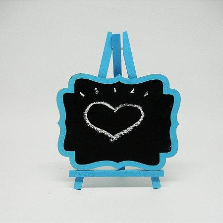 Quadro Cavalete Azul Claro