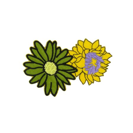 Patch Arranjo Duas Flores Verde
