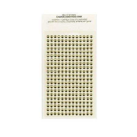 Adesivo Strass 5MM Dourado