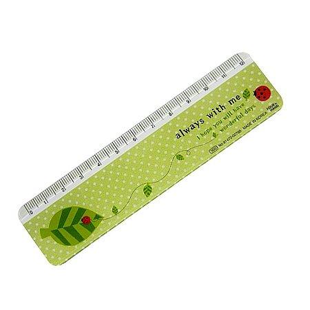 Régua Joaninha 12 cm Verde