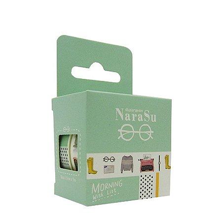 Conjunto Fita Adesiva Washi Tape Acessórios