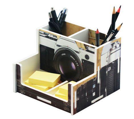 Organizador de Escritório Câmera Fotográfica